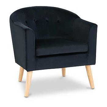 Мягкое кресло - черный - велюр Fromm & Starck Марка Европы