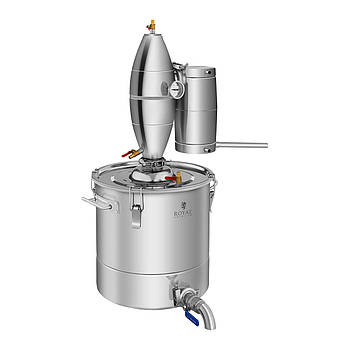 Дистилятор - 30л - 4-х ступеневу охолодження Royal Catering Марка Європи
