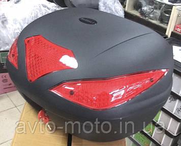 Кофр багажник большой на 2 шлема (три отражателя) 👍👍👍
