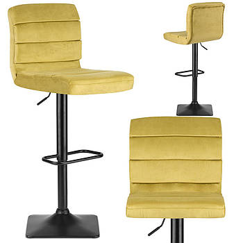 Драва желтый барный стул со спинкой Марка Европы