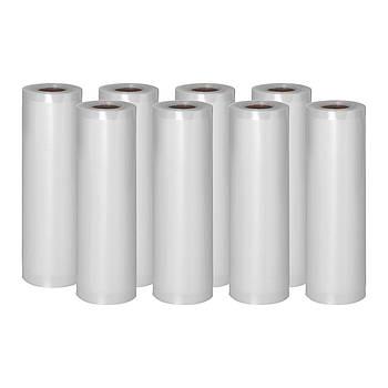 Рифленая фольга для вакуумной упаковки - 8 рулонов - 600 х 20 см Royal Catering Марка Европы