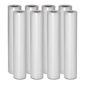 Рифленая фольга для вакуумной упаковки - 8 рулонов - 600 х 30 см Royal Catering Марка Европы