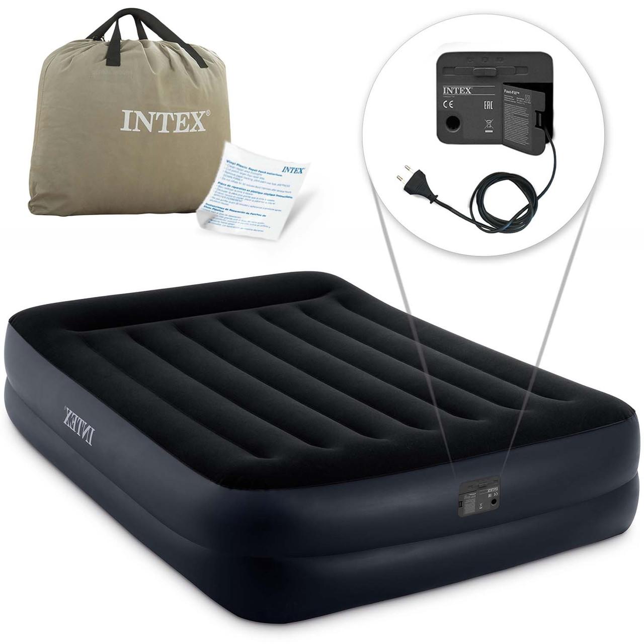 Надувной матрас со встроенным электронасосом INTEX 64124