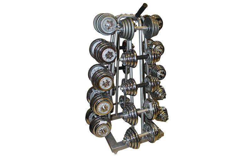 Підставка (стійка) чотиристороння для гантелей Zelart (метал, р-р 50х50х113см)