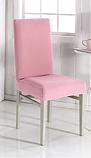 Универсальные натяжные стрейч чехлы накидки на стулья со спинкой водоотталкивающие повышенной плотности Черный, фото 8