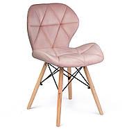 Сучасне велюрове скандинавське крісло Sofotel Sigma - рожеве 2 шт. Марка Європи, фото 2