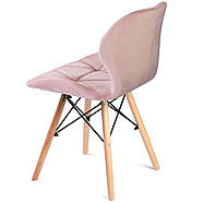 Сучасне велюрове скандинавське крісло Sofotel Sigma - рожеве 2 шт. Марка Європи, фото 4