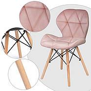 Сучасне велюрове скандинавське крісло Sofotel Sigma - рожеве 2 шт. Марка Європи, фото 5