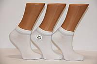 Женские носки короткие в рубчик с бамбука с люрексовой полоской ZG 36-40 белый