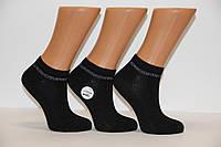 Жіночі шкарпетки короткі в рубчик з бамбука з люрексовою смужкою ZG 36-40 чорний