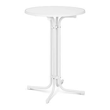 Стол барный - белый - складной - Ø80 см - 110 см Royal Catering Марка Европы