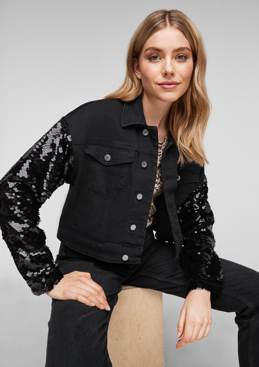 Джинсовая куртка s.Oliver 2054509 S Черный