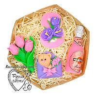 Мило набір 8 березня, вісімка, мартіні, букет тюльпанів, мишка в конверті, подарунок жінці, ручна робота