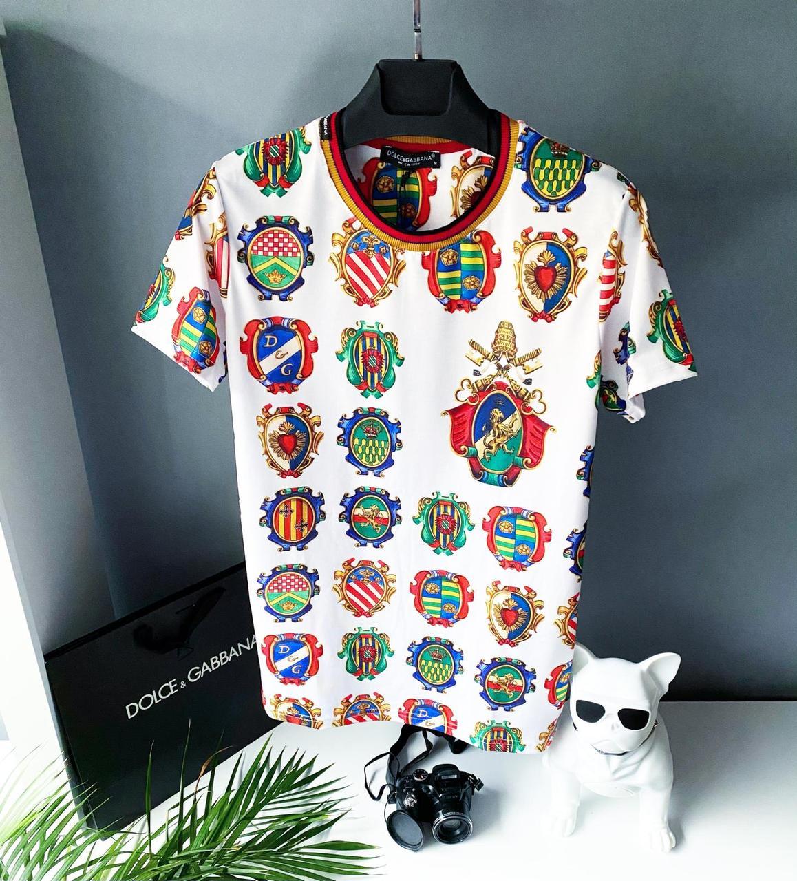 Мужская футболка, люкс D&G White 2021