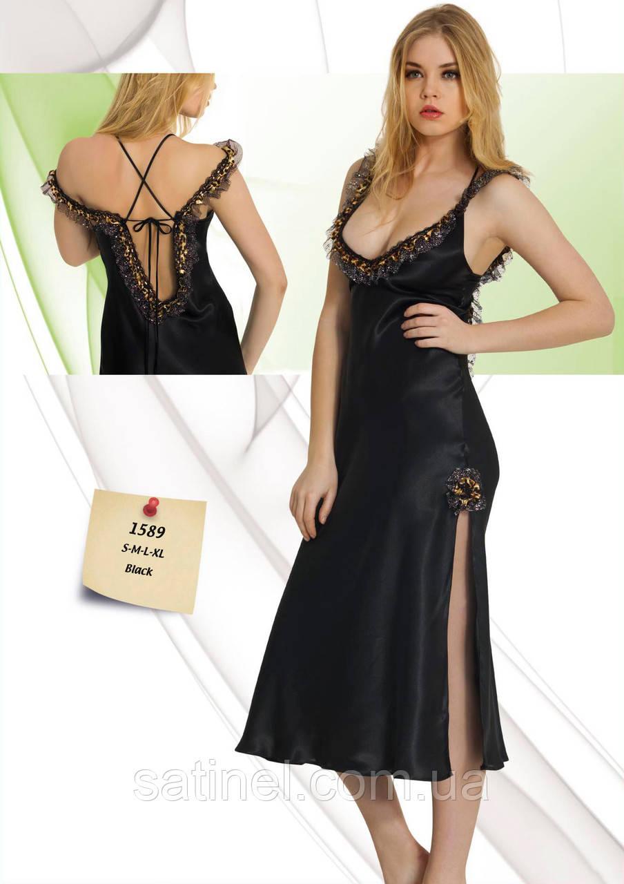 d00162eed692471 Атласная ночная сорочка длинная Jasmin 1589, цена 390 грн., купить в ...