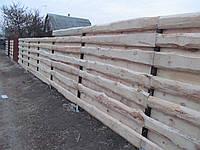 Забор деревянный из необрезной доски