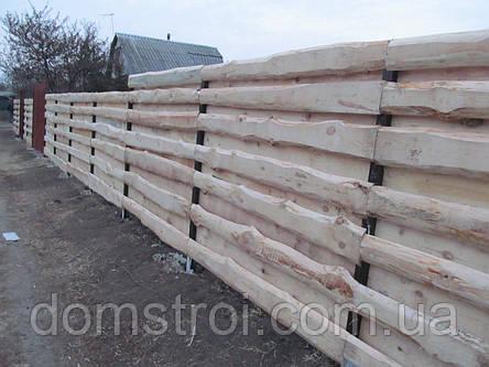 Забор деревянный из необрезной доски, фото 2