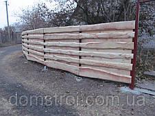 Забор деревянный из необрезной доски, фото 3