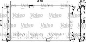 Радиатор охлаждения двигателя на Рено Трафик 03-> 2.5dCi (135 л. с. ) — VALEO (Франция) - 732911