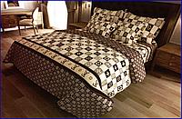 """Двуспальный комплект постельного белья LOUIS VUITTON, практичный качественный из бязи Ранфорс """" Голд"""""""