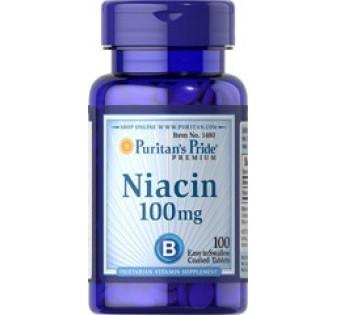 Вітамінно-мінеральний комплекс Puritan's Pride Niacin 100 мг (100 таб)