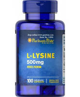 Амінокислоти Puritan's Pride L-Lysine 500 мг (100 капс) Оригінал! (336041)