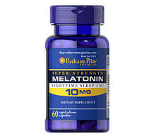 Снодійне Puritan's Pride Melatonin 10 мг (60 капс)