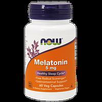 Снодійне NOW Melatonin 5 mg (60 капс)