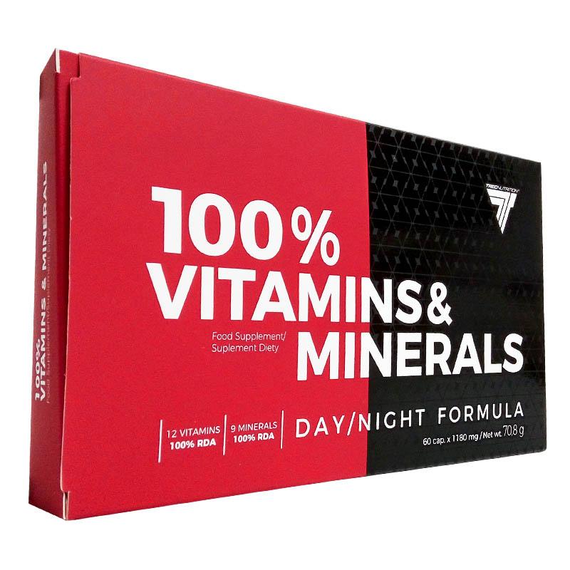 Витамины и минералы Trec Nutrition 100% VITAMINS & MINERALS (60 капс) Оригинал! (340187)