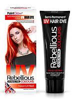 Смываемый красный УФ-оттенок для волос, 13 мл