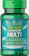 Вітамінно-мінеральний комплекс Puritan's Pride ABC Senior Plus Multivitamin Multi-Mineral Formula (60 капс)