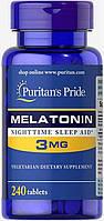 Снодійне Puritan's Pride Melatonin 3 мг (240 таб)