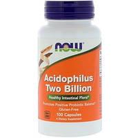 Травлення і ферменти NOW Foods ACIDOPHILUS 2 BILLION (100 капс)