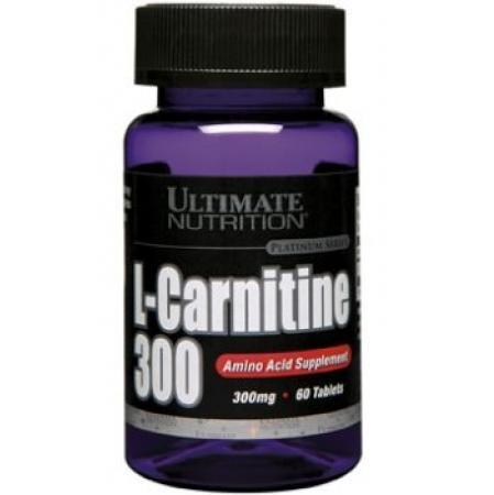 Жиросжигатель Ultimate nutrition L-carnitine 300 мг (usp) (60 таб)