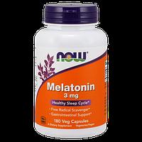 Снодійне NOW Melatonin 3 мг (180 кап)