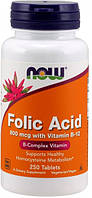 Фолиевая кислота и В12 NOW Foods Folic Acid with Vit B12 (250 таб)