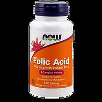 Витаминно-минеральный комплекс NOW Folic Acid 800 мкг (250 таб)