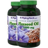 Вітаміни і мінерали Piping Rock Flaxseed Oil 1000 мг (180 кап)