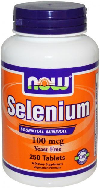 Вітаміни NOW Foods SELENIUM 100 мкг (250 таб)