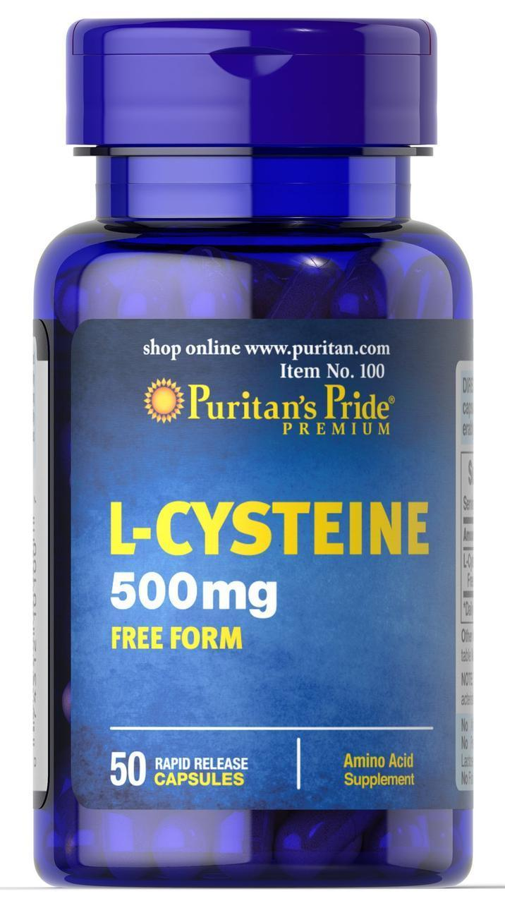 Вітаміни і мінерали Puritan's Pride L-Cysteine 500 мг (50 кап)