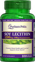 Лецитин Puritan's Pride Soy Lecithin 1200 мг (100 капс)