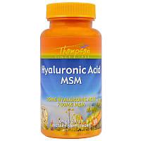 Гиалуроновая кислота и МСМ Thompson Hyaluronic Acid MSM (30 капс)