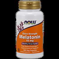 Снодійне NOW Melatonin 10 mg Extra Strength (100 капс)