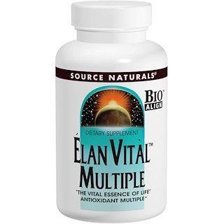 Вітаміни Source Naturals Elan Vital (30 таблеток)