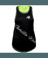Майка Gorilla Wear Florida Stringer Tank Top Black/Neon Lime