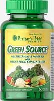 Витамины и минералы Puritan's Pride Green Source Multivitamin & Minerals (60 капс)