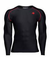Футболка з довгим рукавом Gorilla Wear Hayden Compression Longsleeve Black/Red
