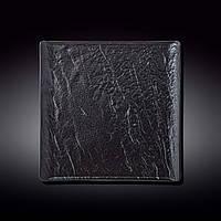 Тарелка Wilmax Slatestone Black квадратная 27х27 см фарфор (661107 WL)