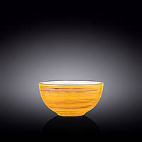 Салатник Wilmax Spiral Yellow 1,1л d16,5 см фарфор (669431 WL)