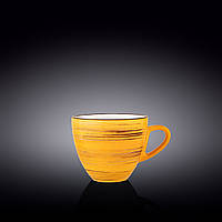 Чашка Wilmax Spiral Yellow 300мл фарфор (669436/А WL)